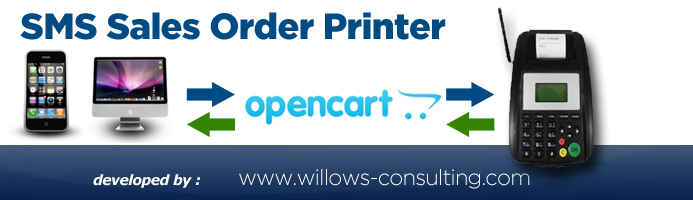 opencart SMS printer
