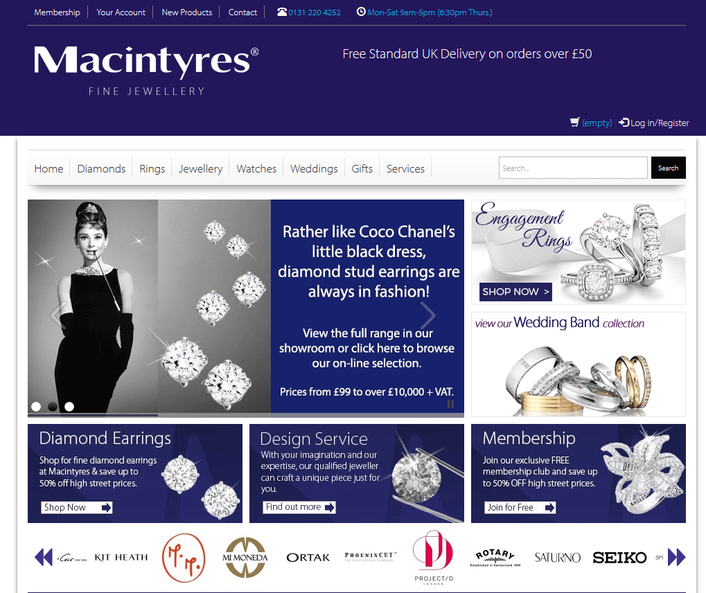 Macintyres Jewellery E-commerce