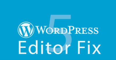wordpress 5 editor fix